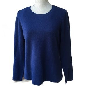 LORD & TAYLOR Cobalt Blue 100% Cashmere Sweater XL